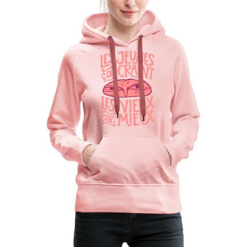 les jeunes ça craint - Sweat-shirt à capuche Premium pour femmes