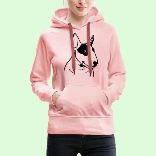 Tête de Bull Terrier - Sweat-shirt à capuche Premium pour femmes