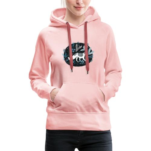 Barsoi im Mitternachtswald - Frauen Premium Hoodie
