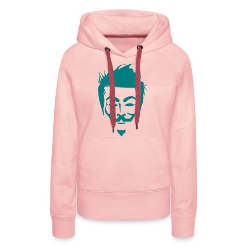 Anonymous Hipster - Sweat-shirt à capuche Premium pour femmes