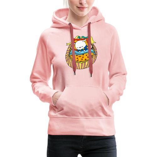 Bilkai au lit - Sweat-shirt à capuche Premium pour femmes