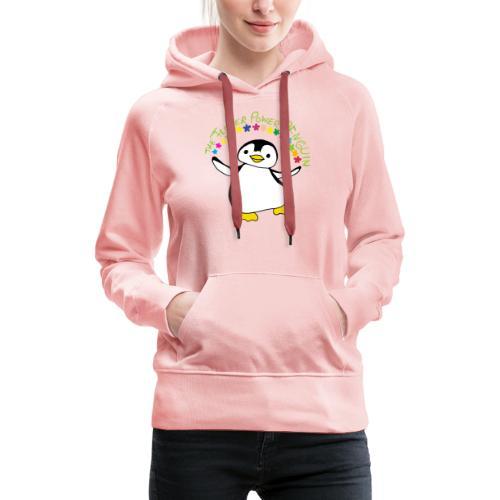 Pinguin Flower Power - Frauen Premium Hoodie