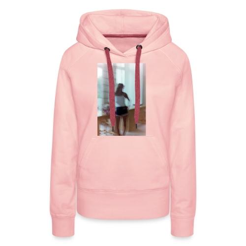 Mädchen in Shorts - blurred vintage photography - Frauen Premium Hoodie
