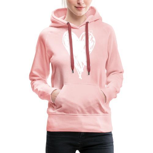 Cœur et amour pour dire je t'aime, i love you - Sweat-shirt à capuche Premium pour femmes