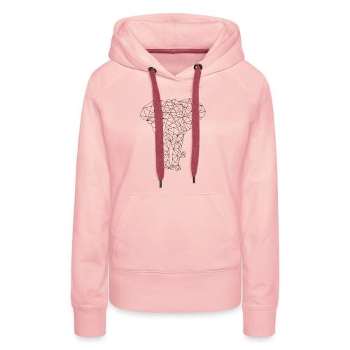 Geometrical Elephant - Frauen Premium Hoodie