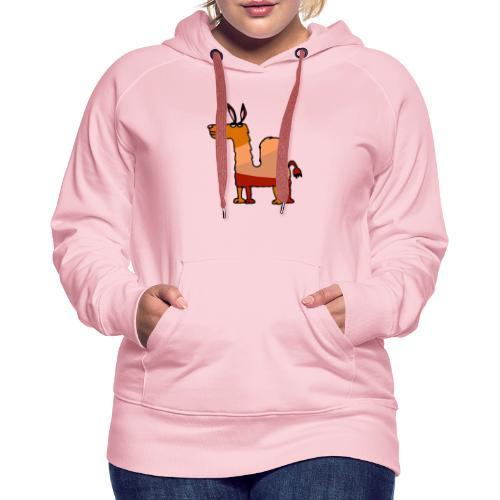 Tod le dromadaire - Sweat-shirt à capuche Premium pour femmes