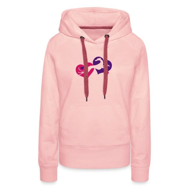 Lévrier Valentin | Sweat shirt à capuche Premium pour femmes