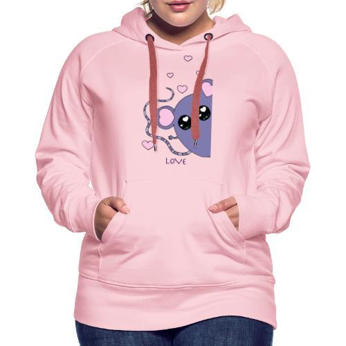 Minimi la souris - Sweat-shirt à capuche Premium pour femmes