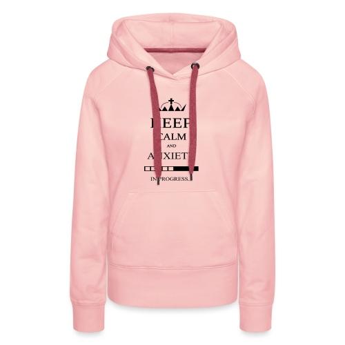 keep_calm - Felpa con cappuccio premium da donna
