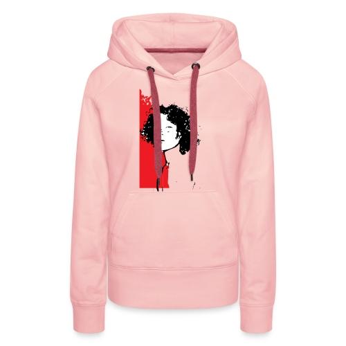 L'enfant rouge représente la terre rouge d'Afrique - Sweat-shirt à capuche Premium pour femmes