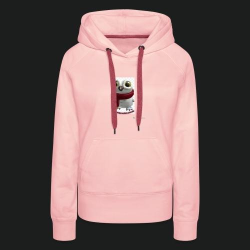 Merch white snow owl - Vrouwen Premium hoodie