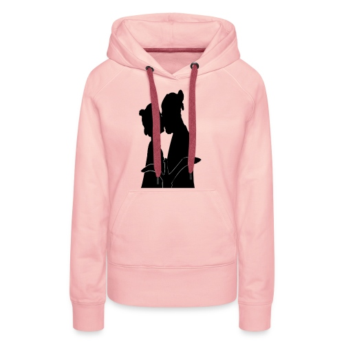real love kissing - Sweat-shirt à capuche Premium pour femmes