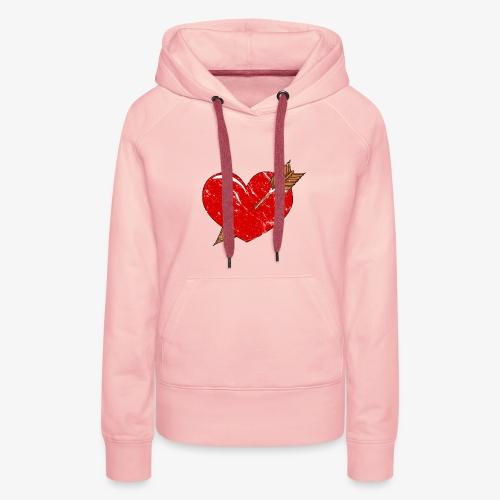 Herz Pfeil - Frauen Premium Hoodie
