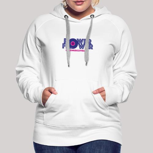 Logo PowerFlower colori - Felpa con cappuccio premium da donna