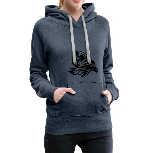 Aigle Abstrait - Sweat-shirt à capuche Premium pour femmes