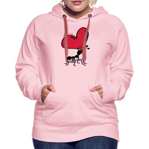 Ant Carrying the Love's Heart - Women's Premium Hoodie