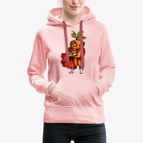 Super Carotte - Sweat-shirt à capuche Premium pour femmes