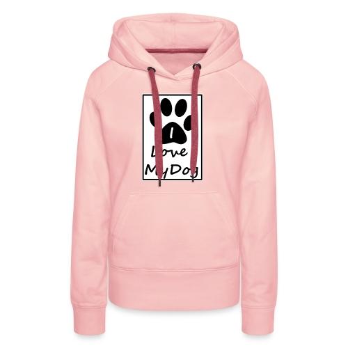love dog - Sudadera con capucha premium para mujer