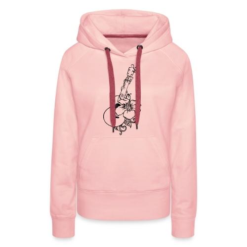 Ukulélé - Sweat-shirt à capuche Premium pour femmes