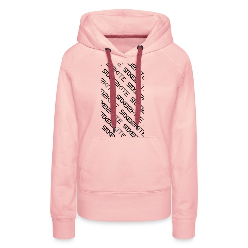 stoked2schuinetekst - Vrouwen Premium hoodie