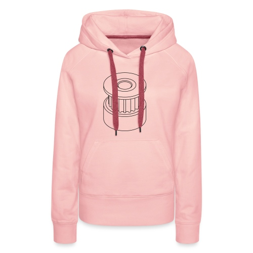 20T GT2 Pulley (no text). - Women's Premium Hoodie