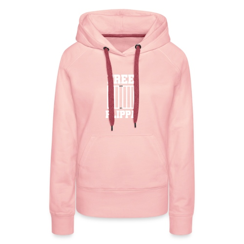 Free Flippa Wit - Vrouwen Premium hoodie