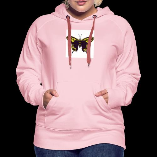 Black & Yellow Butterfly - Women's Premium Hoodie
