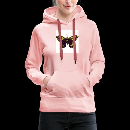 Black & Yellow Butterfly - Women's Premium Hoodie