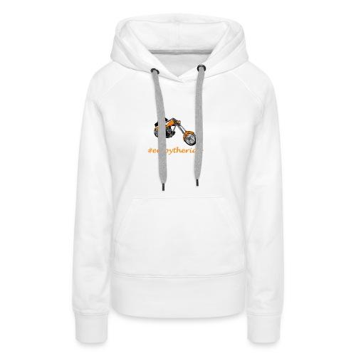 enjoytheride - Sweat-shirt à capuche Premium pour femmes