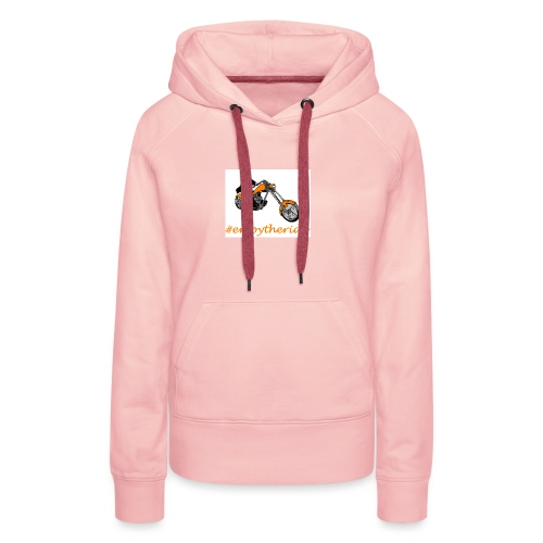 enjoytheride - Sweat-shirt à capuche Premium pour femmes