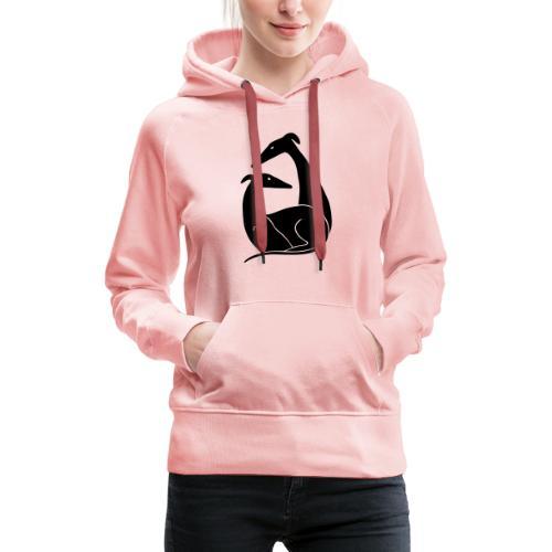 Windhundpaar - Frauen Premium Hoodie
