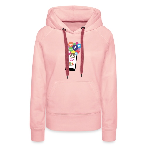 Premium t-shirt, tonåring, sociala medier - Premiumluvtröja dam