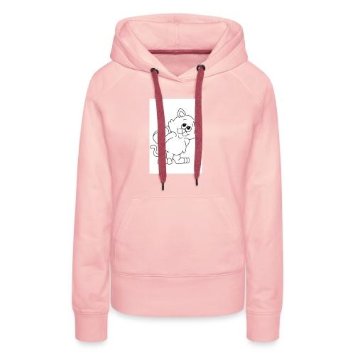 La Le Petit filon chat - Sweat-shirt à capuche Premium pour femmes