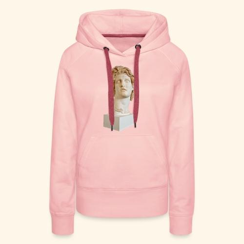 Roman Statue MACINTOSH PLUS - リサフランク420 / 現代のコンピュー - Sweat-shirt à capuche Premium pour femmes