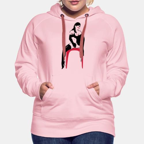 girl masterbate 2 color - Frauen Premium Hoodie