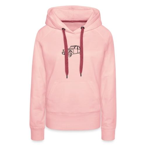 2 cv contour noir - Sweat-shirt à capuche Premium pour femmes