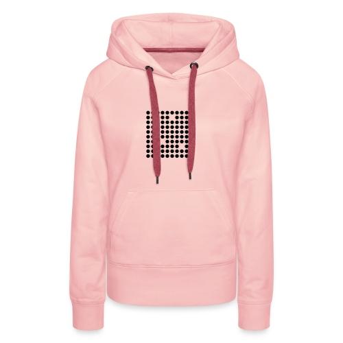 Sustractive Dots - Sudadera con capucha premium para mujer