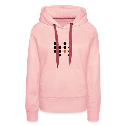 Simple Dots - Sudadera con capucha premium para mujer
