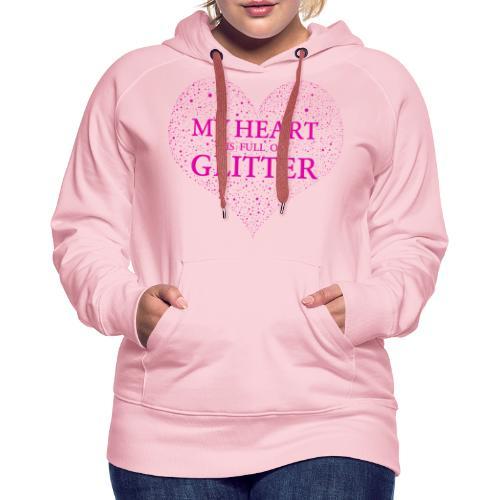 Herz Glitzer - Frauen Premium Hoodie