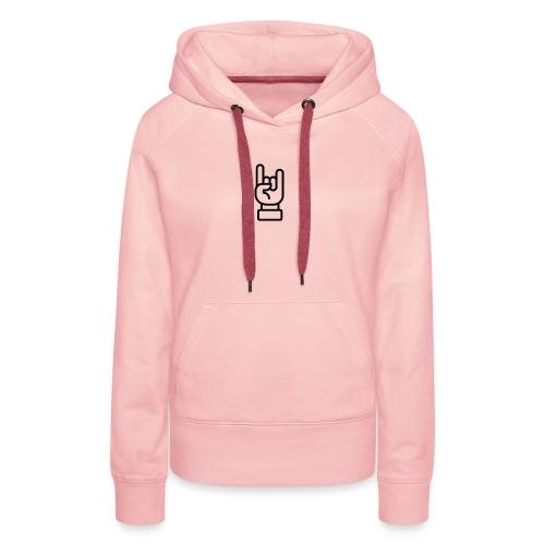Rock' sign - Sweat-shirt à capuche Premium pour femmes
