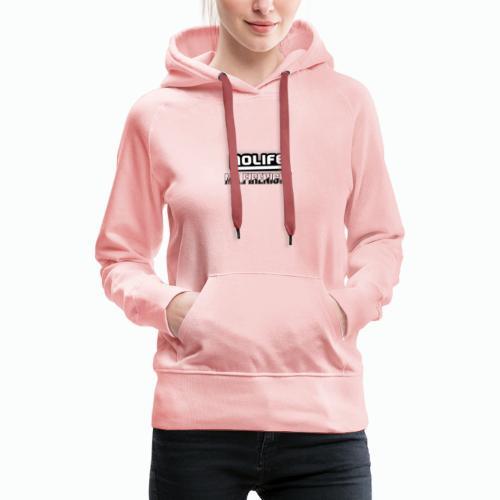 no life logo - Sweat-shirt à capuche Premium pour femmes