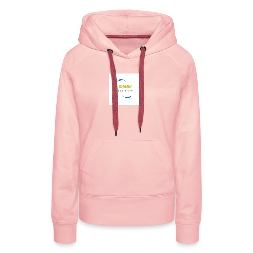 LOGO SHARK BUSINESS - Sudadera con capucha premium para mujer