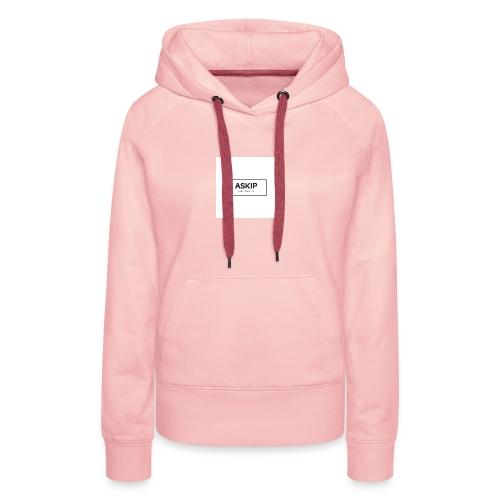 tchicaya - Sweat-shirt à capuche Premium pour femmes