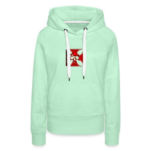 Logo MCC rouge - Sweat-shirt à capuche Premium pour femmes