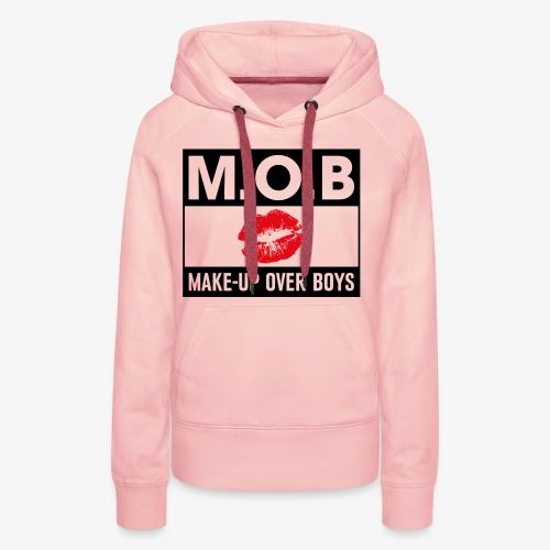 Make-up over boys - Vrouwen Premium hoodie