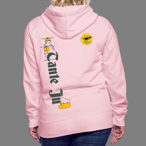 TDH19-PROFIL-JU52 GRIS FONCE - Sweat-shirt à capuche Premium pour femmes