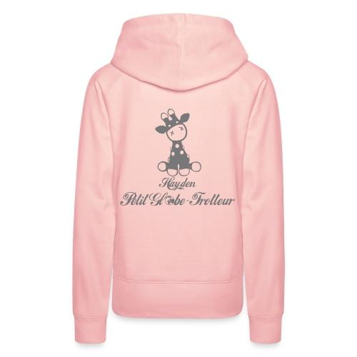 Hayden petit globe trotteur - Sweat-shirt à capuche Premium pour femmes
