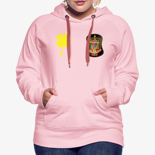 Trébol de la suerte CEsp - Sudadera con capucha premium para mujer