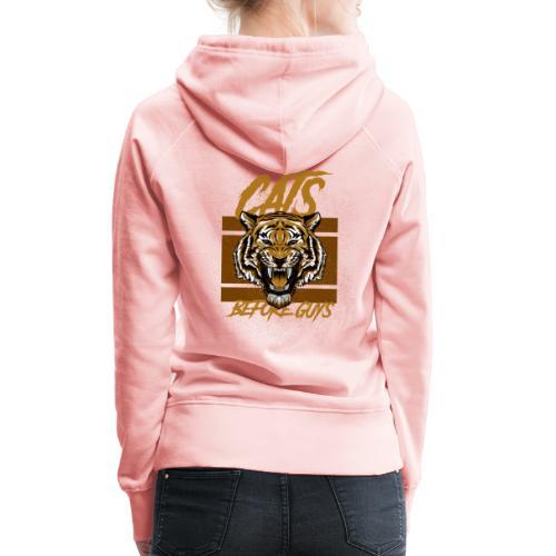 Voor kattenliefhebbers, cats before guys design - Vrouwen Premium hoodie