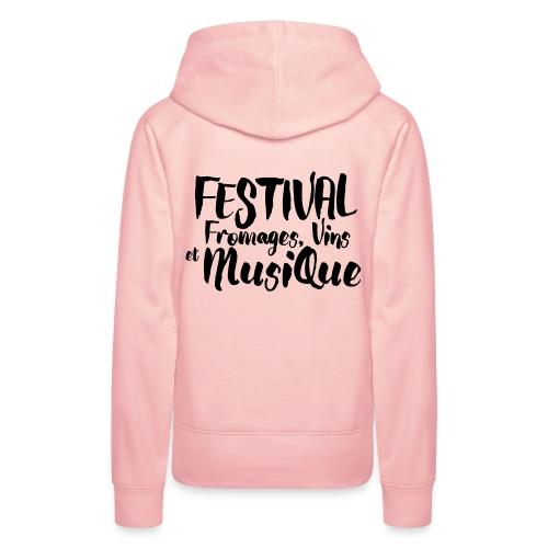Festival FVM - Sweat-shirt à capuche Premium pour femmes